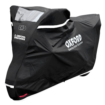 Oxford Products Housse de moto Stormex avec fenêtre pour chargeur solaire