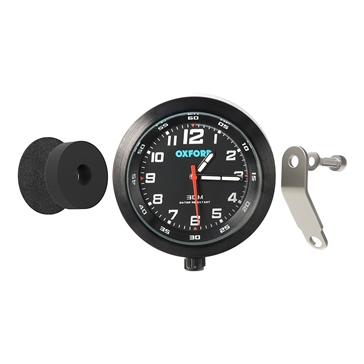 Oxford Products Anaclock Weather Resistant Clock Motorcycle - 371249