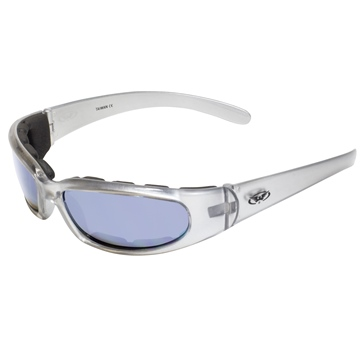 GLOBAL VISION Chicago FM Sunglasses Silver