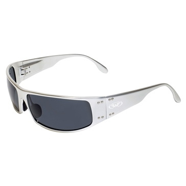 Global Vision Lunette soleil Bad-Ass 2 Argent
