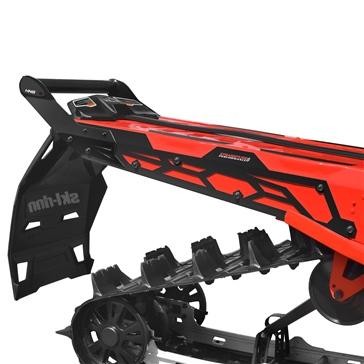 "Straightline Hide ""N"" Go (HNG) Rear Bumper Rear - Aluminium - Fits Ski-doo"