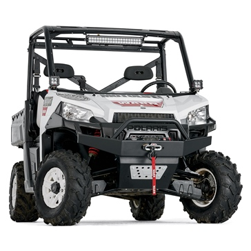 Warn Bumper with Grill Guard Front - Steel - Fits Polaris