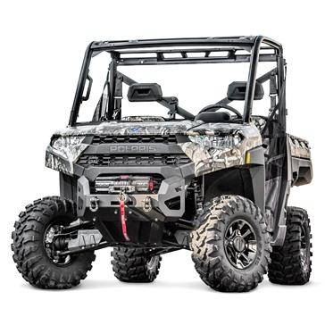 Warn Bumper Winch Ready Front - Steel - Fits Polaris