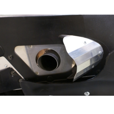 SKINZ PROTECTIVE GEAR Aluminum Exhaust Outlet Deflector