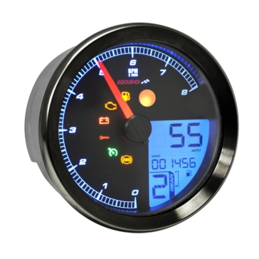 Koso HD-04 Speedometer Multi-functions Universal - 405004