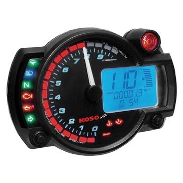 Koso Compteur de vitesse et compte-tours multifonctions RX-2N GP style VTT / Motocyclette - 405023