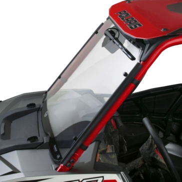 NATIONAL CYCLE Wash'n'Wipe™ 3D Full UTV Windshield Front - Polaris - Polycarbonate