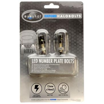 Oxford Products Vis-lumières de plaque d'immatriculation - Halo Bolts