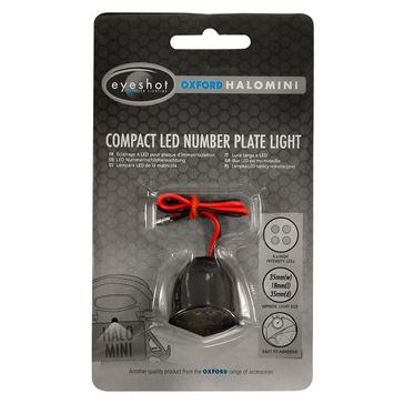 Oxford Products Lumière de plaque d'immatriculation - Halo Mini