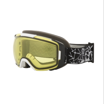 Black, White CKX Hawkeye Goggles, Winter