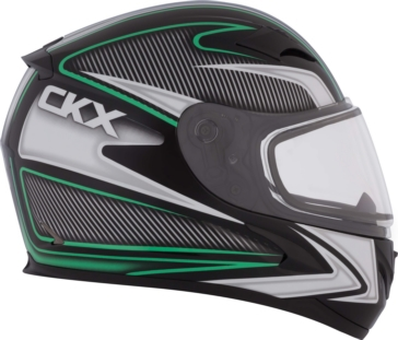 Sparkle - Double Shield CKX RR610 Full-Face Helmet, Winter