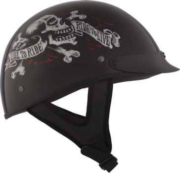 CKX Slick Half Helmet Live to ride