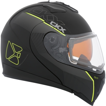 North - Double Shield CKX Tranz 1.5 RSV Modular Helmet, Winter