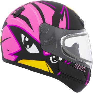 CKX VGK1 Full-Face Helmet, Winter - Youth Raven