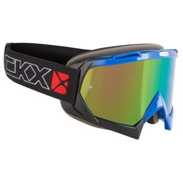 Black, Blue CKX Assault Goggles, Summer