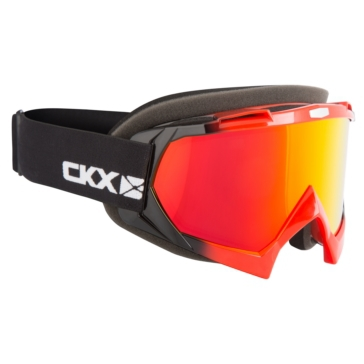 CKX Assault Goggles, Winter Black, Red