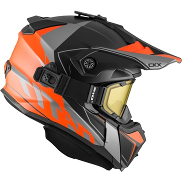CKX Titan Off-Road Modular Helmet, Winter Cliff - Included 210° Goggles