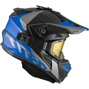 CKX Titan Backcountry Helmet, Winter Cliff - Included 210° Goggles