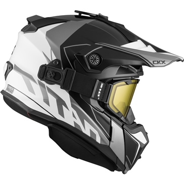 Cliff - Included 210° Goggles CKX Titan Off-Road Modular Helmet, Winter