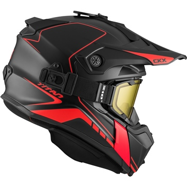 CKX Titan Off-Road Modular Helmet, Winter Atlas - Included 210° Goggles