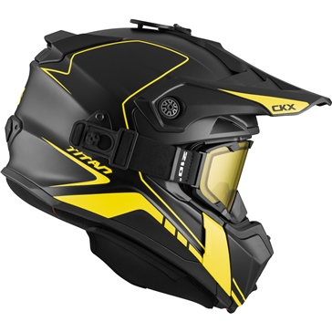 CKX Titan Original Backcountry Helmet, Winter Atlas - Included 210° Goggles