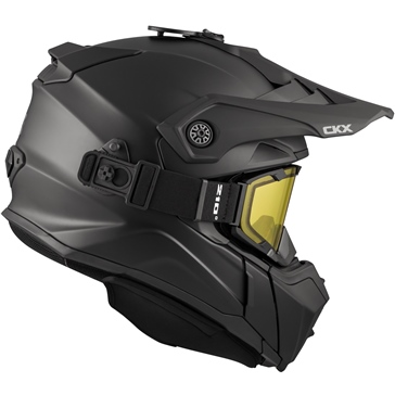 CKX Titan Off-Road Modular Helmet, Winter Solid - Included 210° Goggles