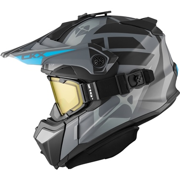 CKX Titan Backcountry Helmet, Winter Abyss - Included 210° Goggles