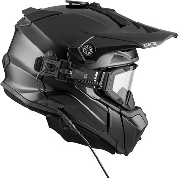 Solid - Included Electric 210° Goggles CKX Titan Off-Road Modular Helmet, Winter