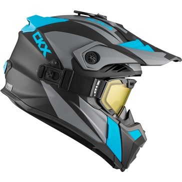CKX Titan Air Flow Backcountry Helmet, Winter Sidehill - Included 210° Goggles