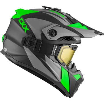 CKX Titan Air Flow Off-Road Modular Helmet, Winter Sidehill - Included 210° Goggles