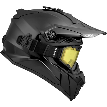 CKX Titan Air Flow Off-Road Modular Helmet, Winter Solid - Included 210° Goggles