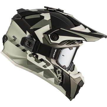 CKX Titan Off-Road Helmet, Summer Splinter - Included 210° Goggles