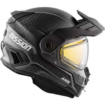CKX Mission AMS Full Face Helmet - Carbon Solid - Winter