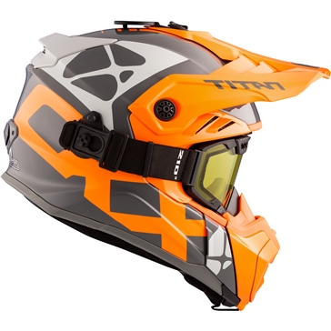CKX Titan Air Flow Backcountry Helmet, winter Steep - Included 210° Goggles