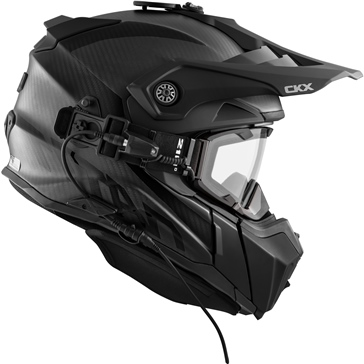 CKX Titan Electric Original Backcountry Helmet, Winter Solid - Included 210° Goggles