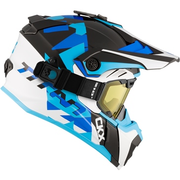 CKX Titan Air Flow Backcountry Helmet, winter Splinter - Included 210° Goggles
