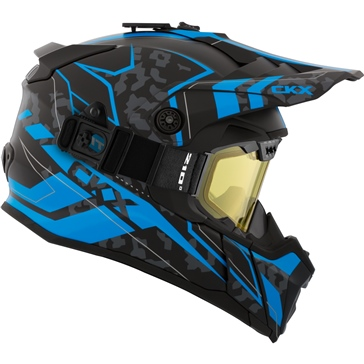 CKX Titan Air Flow Backcountry Helmet, winter Sandstorm - Included 210° Goggles