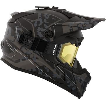 CKX Titan Air Flow Backcountry Helmet, winter Sandstorm - Included 210° Goggles