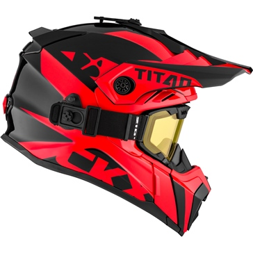 CKX Titan Air Flow Backcountry Helmet, winter Extra - Included 210° Goggles