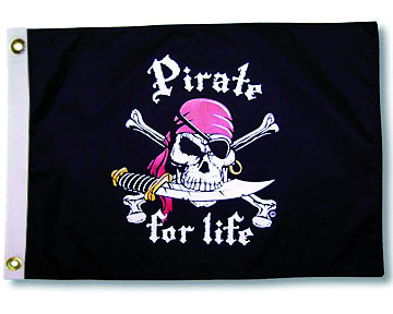 "TAYLOR MADE Drapeau ""Pirate for life"""
