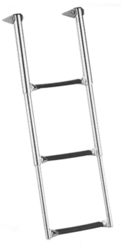 GARELICK Over Platform Telescoping Drop Ladder Telescopic - 3