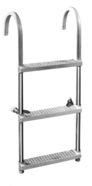 Adjustable - 3 GARELICK Gunwale EEZ-In Hook Ladder