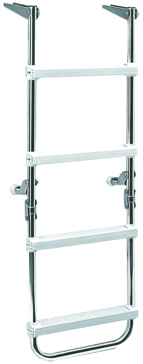 GARELICK Pontoon Folding Deck Ladder Foldable - 2 to 4