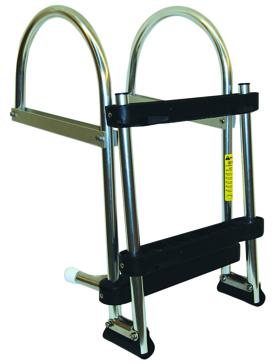 Foldable - 1 to 3 GARELICK Folding Pontoon Transom Boarding Ladder
