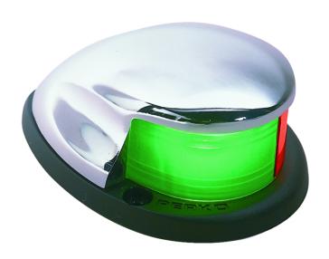 PERKO  Bi-Color Bow Light Chrome Bow lights - Silver