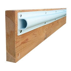 "Dock Edge  Single ""D"" Profile Dock Bumper 8' x 3 1/8"" x 1 1/2"""