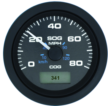 SEASTAR SOLUTION Speedo GPS, White Premier Pro 80 mph 2-Stroke, 4 Stroke