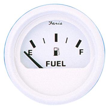 FARIA Dress White Series Fuel Level Gauge