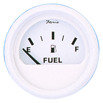 Faria Dress White Series Fuel Level Gauge Boat - 705857