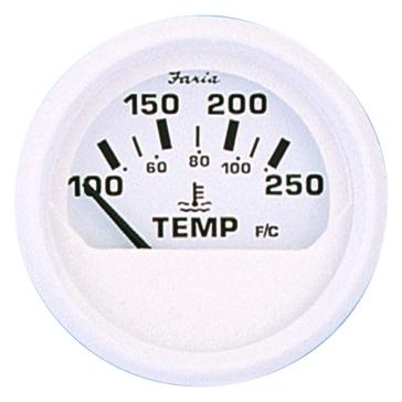 Faria Dress White Series Water Temperature Gauge Boat - 705860